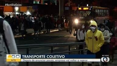 Após anunciar pausa, Reunidas volta a operar no transporte coletivo da Grande Goiânia - Retomada será parcial.