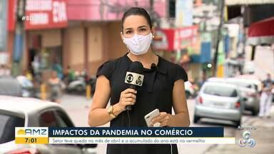 Veja os reflexos da pandemia no comércio do Amazonas - Setor teve queda no mês de abril.