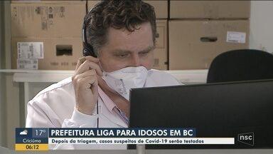 Prefeitura de Balneário Camboriú liga para idosos e testa casos suspeitos de coronavírus - Prefeitura de Balneário Camboriú liga para idosos e testa casos suspeitos de coronavírus
