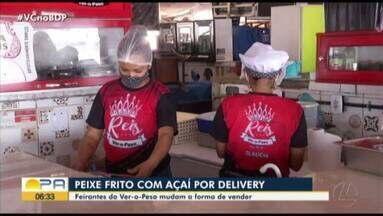 Feirantes do Ver-o-Peso adotam delivery para realizar vendas - Com a baixa procura dos alimentos os feirantes estão investindo nessa nova modalidade.