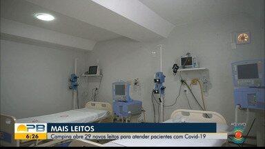 Prefeitura de Campina Grande abre 29 novos leitos para atender pacientes com Covid-19 - Confira os detalhes com o repórter Marques de Souza.