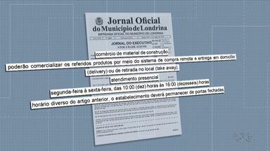 Denúncias de quem não respeita o isolamento disparam em Londrina - Loja de materiais de construção foi fechada por funcionar fora do horário autorizado