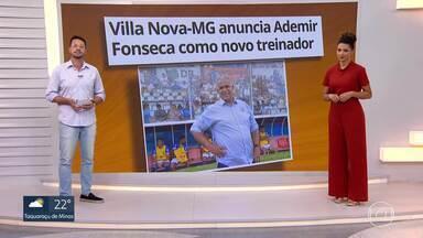 Villa Nova-MG anuncia Ademir Fonseca como novo treinador para a sequência do Mineiro - Villa Nova-MG anuncia Ademir Fonseca como novo treinador para a sequência do Mineiro