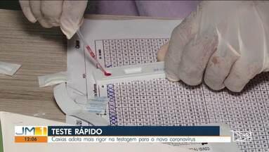 Caxias adota mais rigor na testagem para o novo coronavírus - Município adotou como protocolo a testagem rápida.