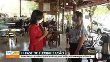 Em Montes Claros, restaurantes voltam a funcionar com o novo decreto da prefeitura - Restaurantes devem adotar medidas para evitar disseminação do vírus.