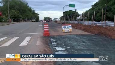 Avenida Daniel de La Touche em São Luís vai ganhar nova faixa para carros - Obras de alargamento da avenida estão em execução.