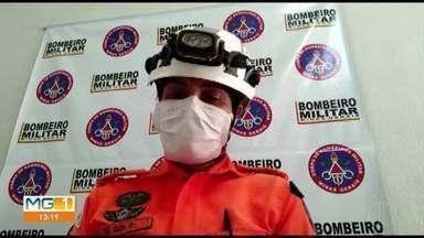 Garimpeiros morrem soterrados após mina desmoronar em MG - Segundo o Corpo de Bombeiros, as vítimas de 63 e 68 anos trabalhavam em Rubelita, no Norte de Minas Gerais. Regularidade da mina está sendo averiguada.