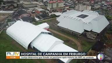 MPF faz uma série de questionamentos sobre Hospital de Campanha de Friburgo, RJ - Justiça dá prazo para Governo do Estado responder sobre relatório.