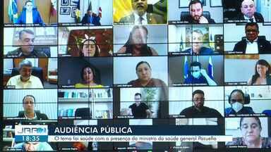 Audiência pública virtual discute saúde em Roraima com Ministro da saúde General Pazuello - A audiência foi iniciativa do presidente da ALE-RR Jalser Renier.