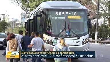 Motoristas de ônibus correm risco com pandemia de coronavírus - Doença já matou 9 motoristas na capital e tem 31 mortes suspeitas.