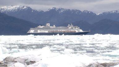 """Terra da Gente se aventura por maior campo de gelo fora da Antártica na Patagônia Chilena. - Local conhecido como """"fim do mundo"""" é um dos locais mais difíceis do planeta para navegação!"""