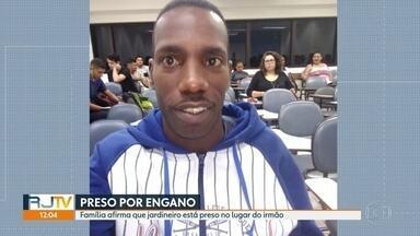 Jardineiro é preso por engano no lugar do irmão - Segundo a família de Wilton Oliveira, o jardineiro foi preso por engano no lugar do irmão dele, morto em fevereiro deste ano durante uma operação policial.