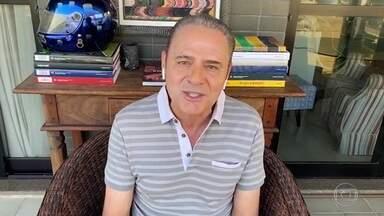 Luis Roberto narra gol de Jairzinho na estreia do Brasil na Copa de 70 - Luis Roberto narra gol de Jairzinho na estreia do Brasil na Copa de 70