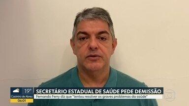 Secretário de Saúde anuncia que vai pedir demissão do cargo nesta segunda (22) - Fernando Ferry anunciou que pedirá exoneração do cargo de Secretário de Saúde nesta segunda (22). Ferry pediu desculpas à população.