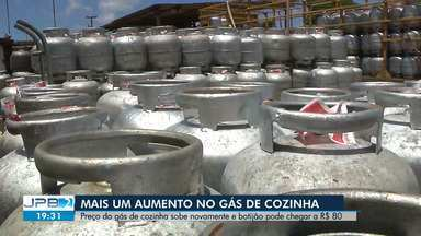 Preço do gás de cozinha aumenta novamente na Paraíba - O botijão pode chegar a R$ 80.