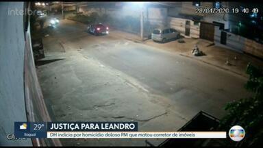 Delegacia de Homicídios indicia PM que matou corretor de imóveis - O RJ1 teve acesso, com exclusividade, a imagens que mostram o momento em que o corretor de imóveis Leandro da Matta é morto por um policial militar, em Cordovil.