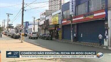 Cidades da região voltam a fechar comércios não essenciais nesta quarta-feira - Medida foi tomada pelas prefeituras devido o aumento do número de casos confirmados de Covid-19 nas cidades de Mogi Guaçu, Mogi Mirm e Estiva Gerbi.