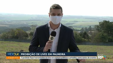 Proibição de lives em Palmeira - É proibido fazer transmissões ao vivo em espaços públicos e privados, como centro de eventos
