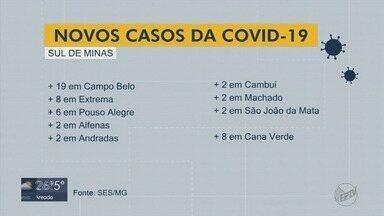 Três cidades do Sul de MG registram metade dos novos casos de Covid-19 - Dados são da SES-MG referentes às últimas 24 horas