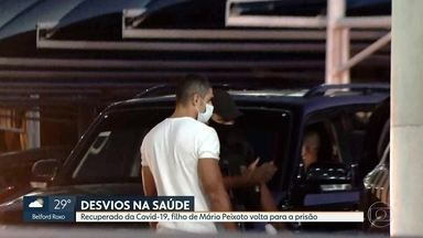 Filho de Mário Peixoto volta a ser preso por suspeita de envolvimento em desvios na saúde - Vinícius Peixoto foi preso junto com o pai por suspeita de participação no esquema que desviou mais de 500 milhões de reais dos cofres do Estado desde 2012. Ele cumpria prisão domiciliar porque estava com Covid-19