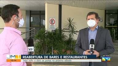 Governo decide antecipar reabertura de restaurantes e bares em São Luís - O repórter Adailton Borba tem mais informações.