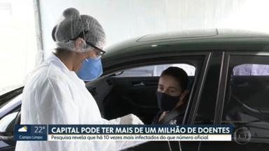 Total de infectados por Covid-19 em SP pode ser 10 vezes maior que números oficiais - É um número tão grande – 1,2 milhões moradores - que é mais do que o Brasil inteiro já registrou oficialmente.