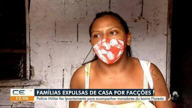Famílias são expulsas de casa por facções criminosas - Saiba mais em: g1.com.br/ce