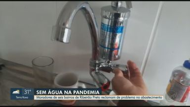 Moradores de Ribeirão Preto reclamam de problemas no abastecimento de água - Confira as notícias da região direto da redação da EPTV.