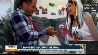 Grupo realiza casamento matuto virtual - Amigos fizerem festa junina respeitando o isolamento social.