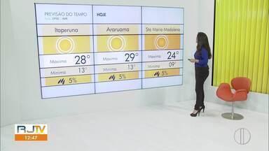 Confira a previsão do tempo no interior do Rio nesta terça-feira (23). - Umidade relativa do ar em queda neste inverno tem preocupado especialistas.