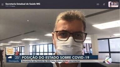 Secretário do Estado de Saúde fala sobre combate à Covid-19 no interior de Minas Gerais - Em entrevista ao MG1 da TV Integração, Carlos Eduardo Amaral, respondeu sobre medidas adotadas pelo governo, bem como questionamentos frente ao período de pandemia.