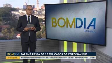 Paraná passa de 16 mil casos de coronavírus - Foram registradas 487 mortes pela doença no Estado.