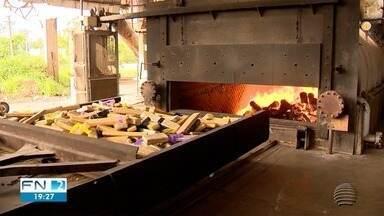Mais de duas toneladas de drogas são incineradas em Presidente Prudente - Entorpecentes foram queimados em uma indústria.