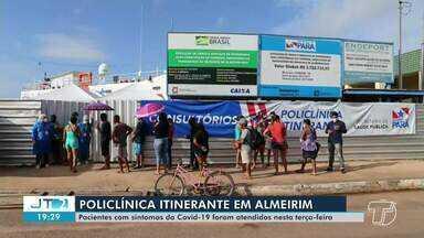 Almeirim recebe Policlínica Itinerante do governo do estado - Município também recebeu respiradores para instalação de UTIs.