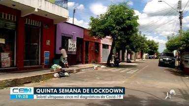 Sobral enfrenta 5ª semana de lockdown com alta ocupação de leitos - Saiba mais em g1.com.br/ce
