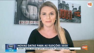Senado aprova mudança de data para as eleições de 2020 - Senado aprova mudança de data para as eleições de 2020