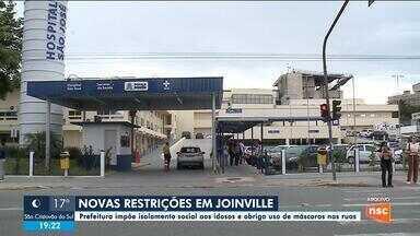 Prefeitura de Joinville impõe isolamento a idosos e obriga uso de máscaras nas ruas - Prefeitura de Joinville impõe isolamento a idosos e obriga uso de máscaras nas ruas