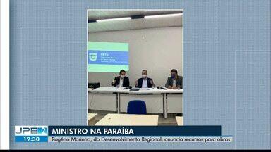 Ministro do Desenvolvimento Regional anuncia recursos para obras na Paraíba - Vertente Litorânea e CBTU serão contempladas.