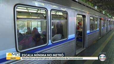 Metroviários anunciam escala mínima de funcionamento| - Funcionários querem mais proteção contra o coronavírus.