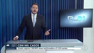 RJ2 traz os números atualizados da Covid-19 no estado do Rio - Dados da Secretaria de Saúde do Rio de Janeiro apontam mais de 100 mil casos confirmados de Covid-19.