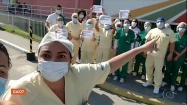 Funcionários que trabalham em quatro hospitais estaduais do RJ estão sem receber salários - O problema é que os contratos do governo com as empresas que administram algumas dessas unidades venceram há meses.