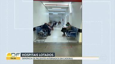 Pacientes denunciam situação de hospitais - Pacientes internados relatam que os hospitais públicos estão lotados.