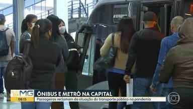 Passageiros reclamam da situação do transporte público na pandemia - Escala reduzida do metrô afeta passageiros na estação Vilarinho.