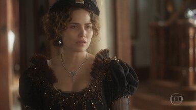 Leopoldina questiona Domitila sobre o Solar - A princesa faz uma visita tensa à amante de Dom Pedro