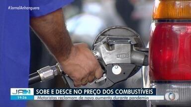 Preço do combustível volta a subir, em Goiânia - Gasolina já é encontrada nas bombas a R$ 4,25.