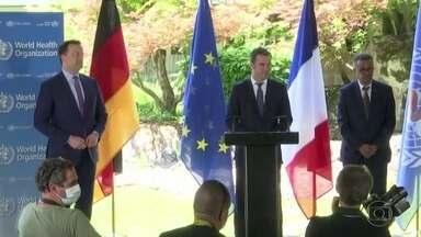 França e Alemanha anunciam doações milionárias para OMS após saída dos EUA - Diretor-geral Tedros Adhanom disse que a Organização Mundial da Saúde agora tem todo o apoio necessário, não só político, mas financeiro também.