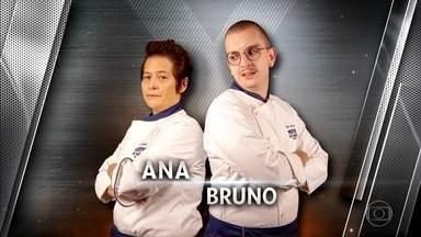 Ana e Bruno se enfrentam no terceiro duelo da noite - Amendoim é o ingrediente escolhido