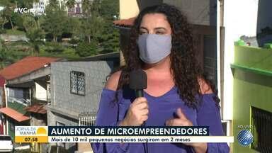 Pesquisa aponta que mais de 10 mil microempresas surgiram em dois meses de pandemia - Por causa da crise financeira causada pelo coronavírus, muitos baianos passaram a investir no próprio negócio.