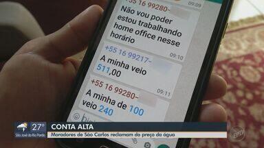 Contas de água triplicam de valor em São Carlos e assustam moradores em vários bairros - Serviço Autônomo de Água e Esgoto (Saae) informou que vai analisar cada situação.