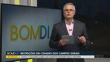Castro e Carambeí estão com comércio fechado hoje e amanhã - E,m Carambeí também está valendo o toque de recolher
